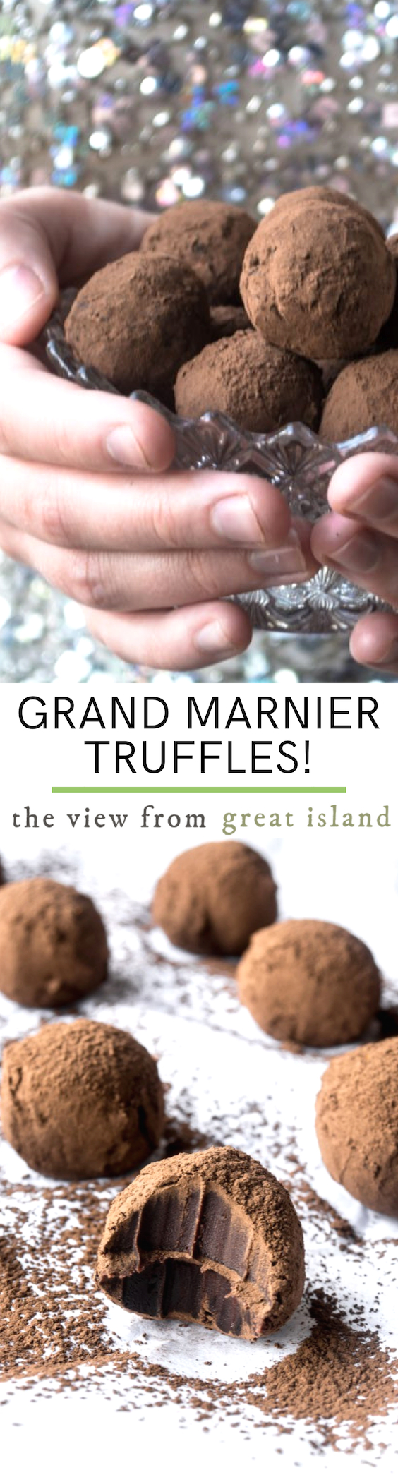 Homemade Grand Marnier Truffles pin.