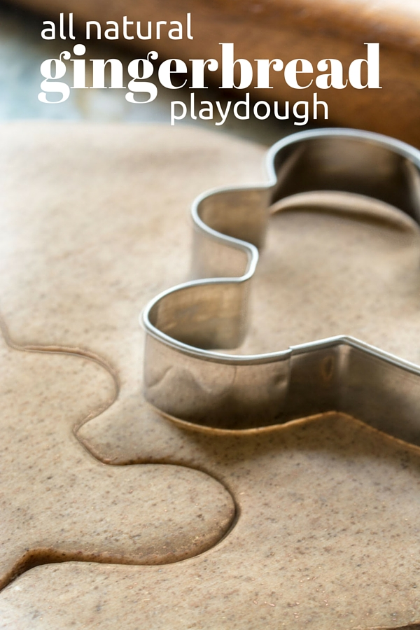 All natural gingerbread playdough is easy to make in your own kitchen!