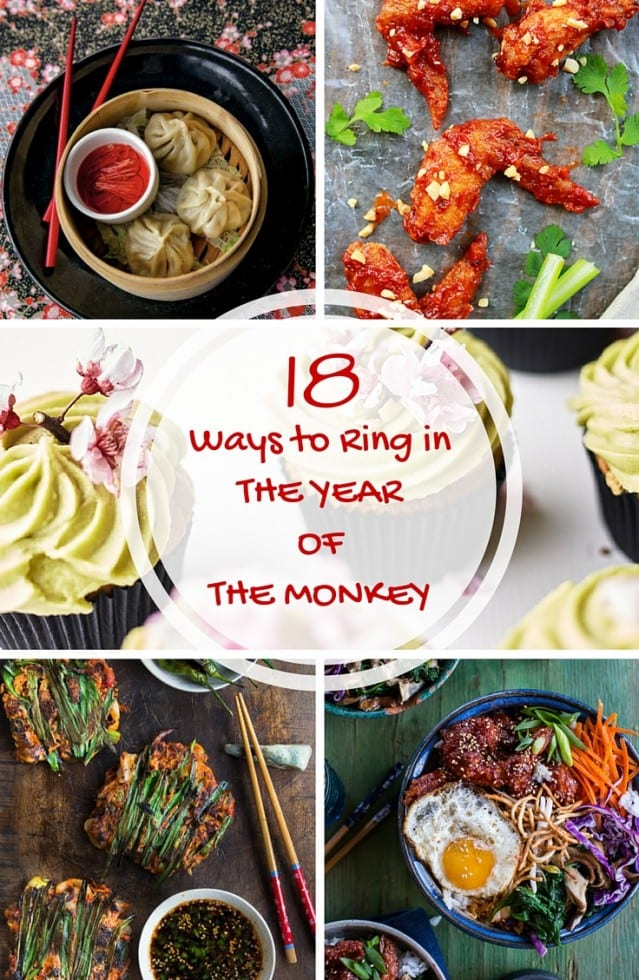 18 Ways to Ring in the Lunar New Year  ~ fun and festive authentic Asian recipes to help celebrate the Chinese New Year! #recipes #asian #chinese #japanese #Lunarnewyear #chinesenewyear #wings #dumplings #noodlebowls #matcha #porkbelly #appetizers #entertaining