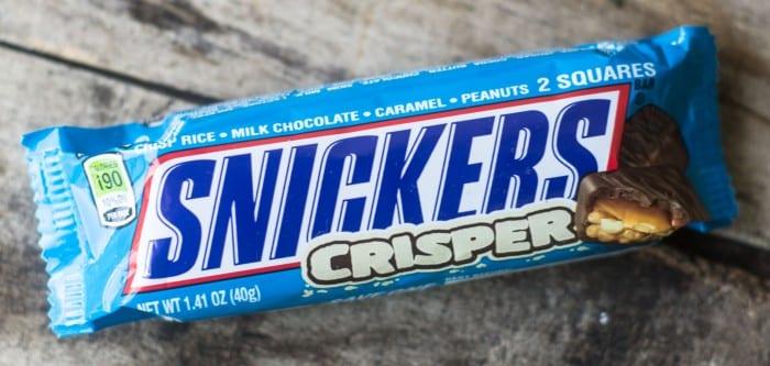 Snickers® Crisper, a lighter, crispier candy bar