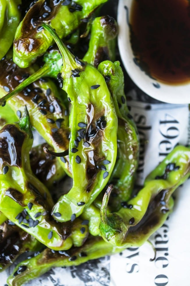 18 Ways to Celebrate the Year of the Monkey - grilled shishito peppers