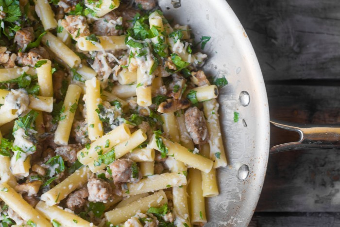 Ziti with Sausage, Lemon and Sage