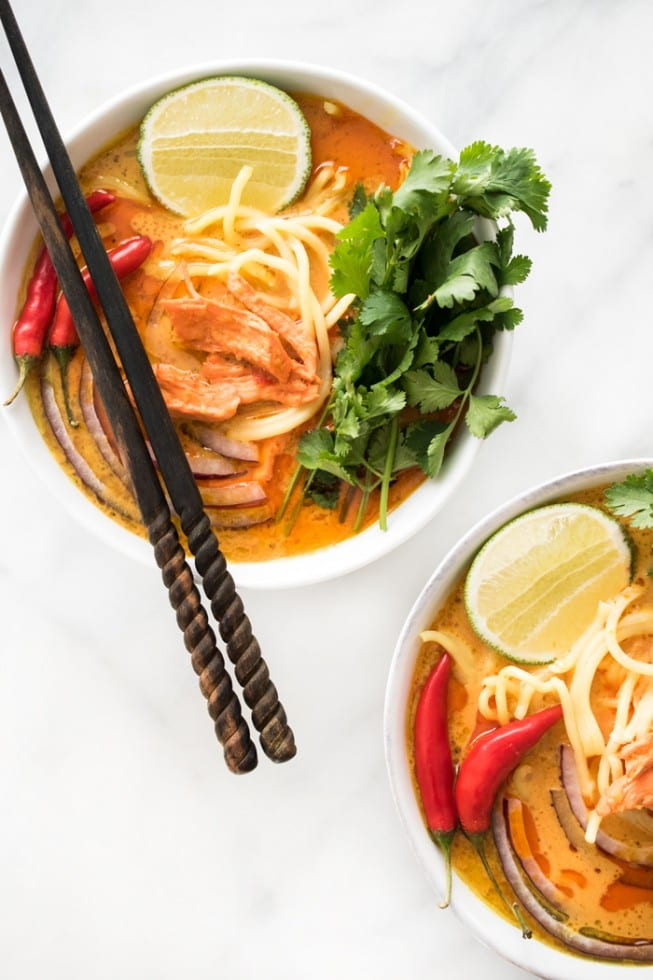 18 Ways to Celebrate the Year of the Monkey - spicy thai curry noodle soup