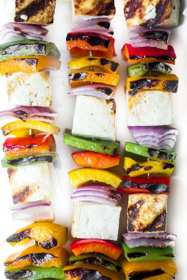 Grilled Tofu Skewers are a super simple 3- minute meal