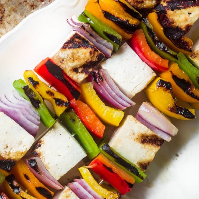 Easy healthy and delicious Tofu Skewers can be on the table in less than 30 minutes!