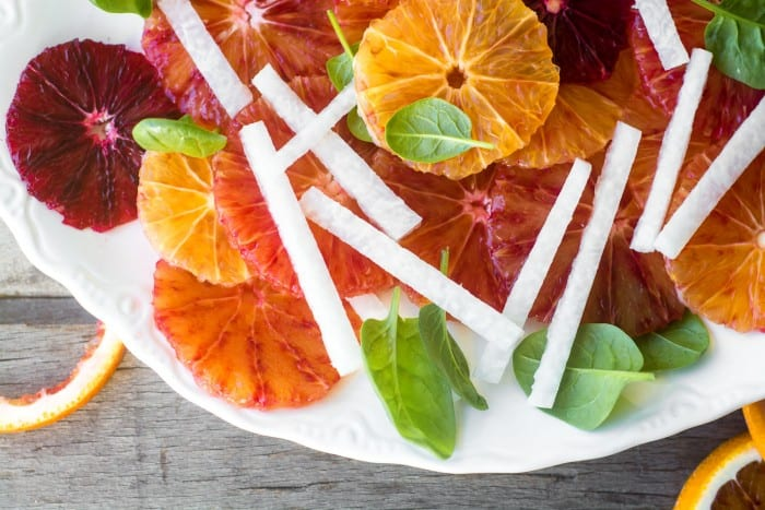 Blood Orange and Jicama Salad is a light refreshing winter salad