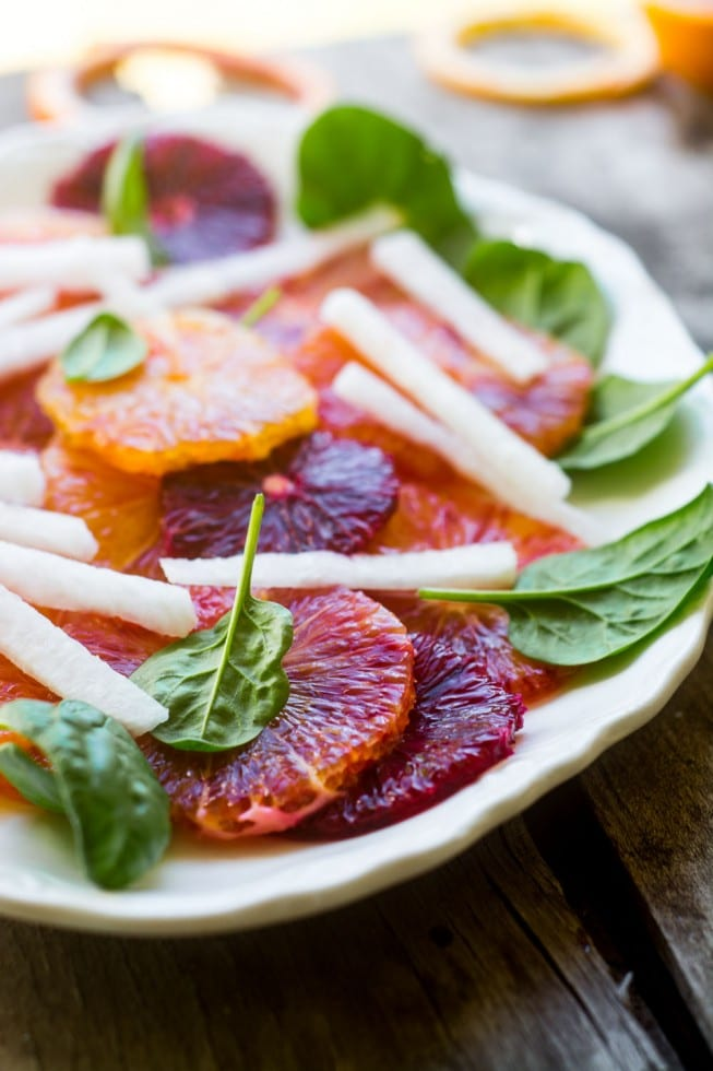 Blood Orange and Jicama Salad is a super simple light winter salad