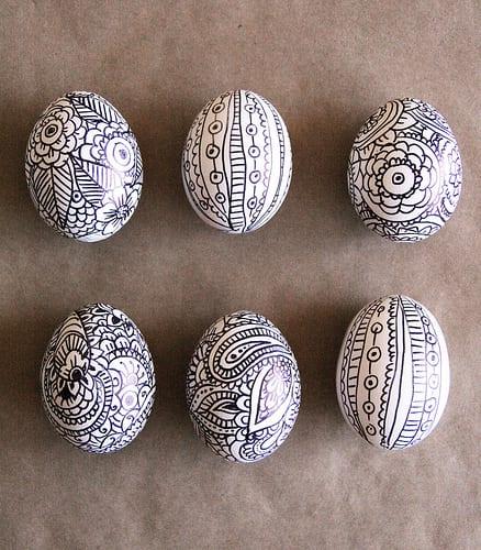 Sharpie Doodled Eggs | Alisa Burke