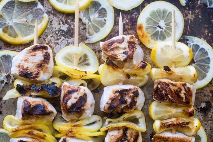 Lemon Buttermilk Chicken Skewers