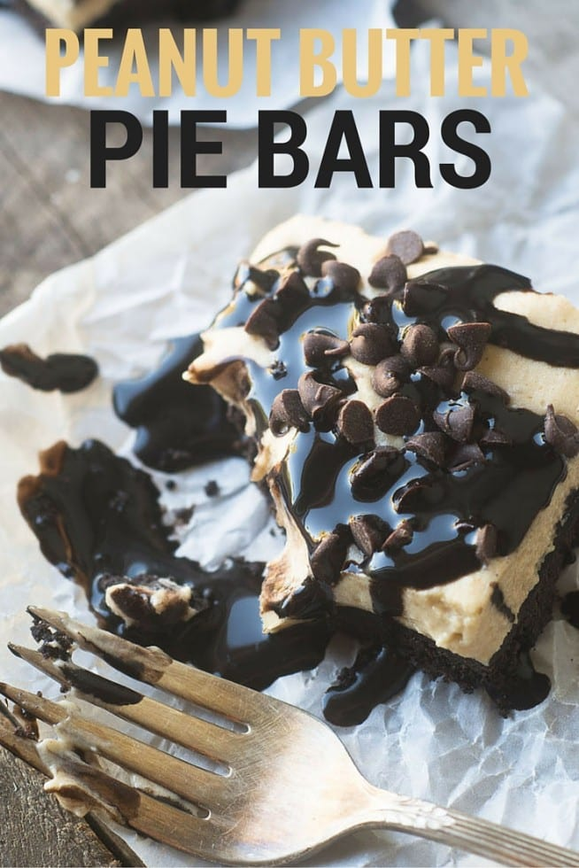 Peanut Butter and Chocolate in a refreshing no bake bar form...they're fantastic frozen, too!