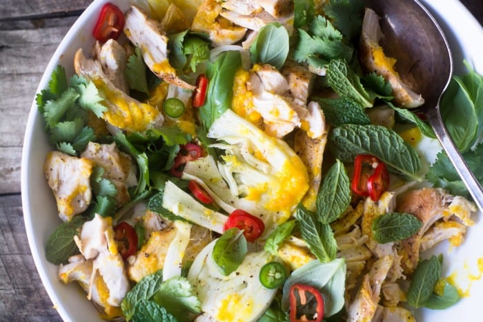 Saffron Chicken & Herb Salad