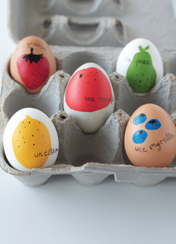 DIY FRUITY FRENCH EASTER EGGS by The Alison Show