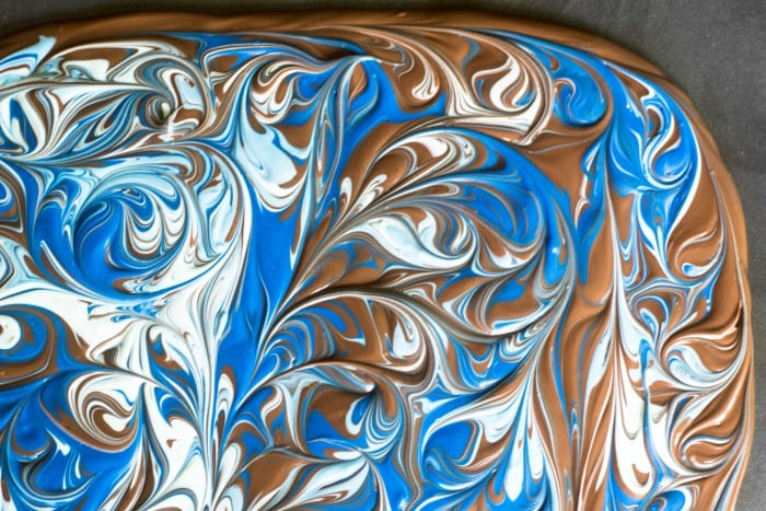 Milk Chocolate Marbleized Bark