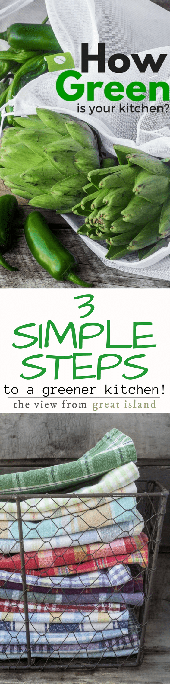 It's one thing to want a healthier, greener kitchen, but it's another to actually make it happen…the trick is to take it in small, manageable steps… here are my top 3 tips for getting started…