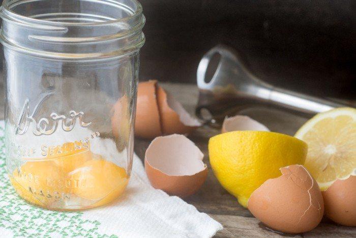 egg yolks and blender