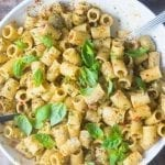 Sicilian Pasta with Almonds and Anchovies