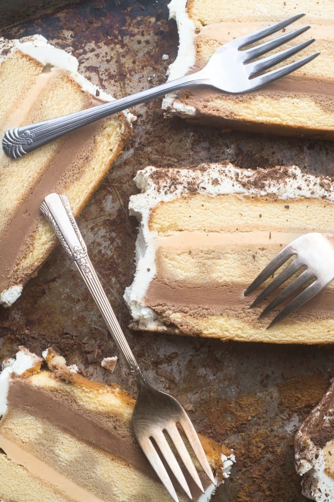 Easy Tiramisu Ice Cream Cake