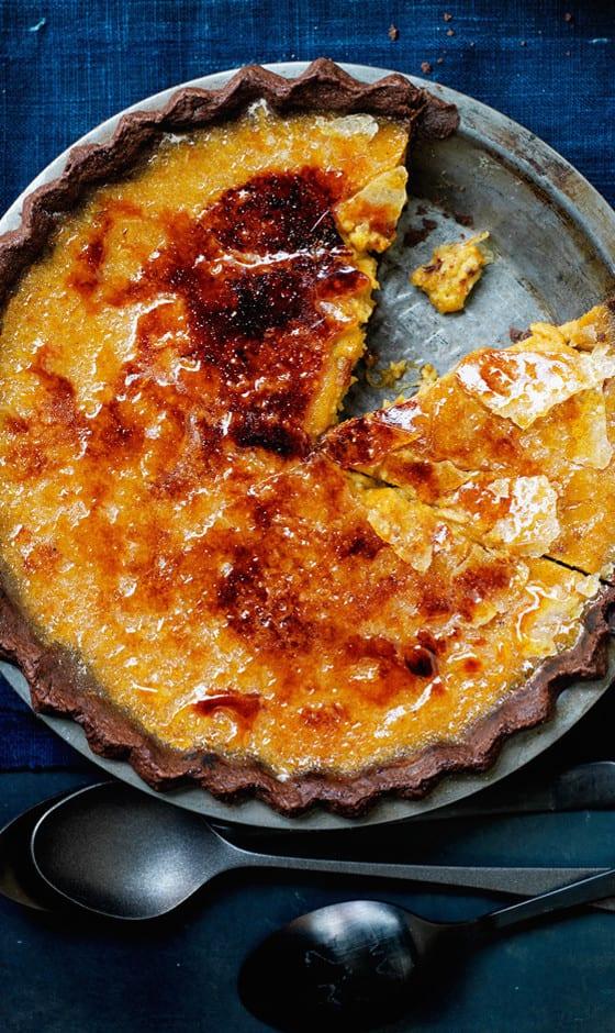 Brûléed Bourbon-Maple Pumpkin Pie | Bon Appetit