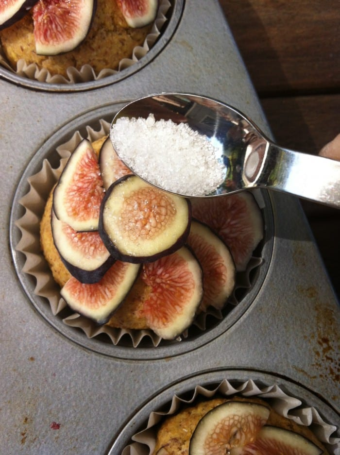 Cornbread Muffins with Bruleed Figs | One Happy Table