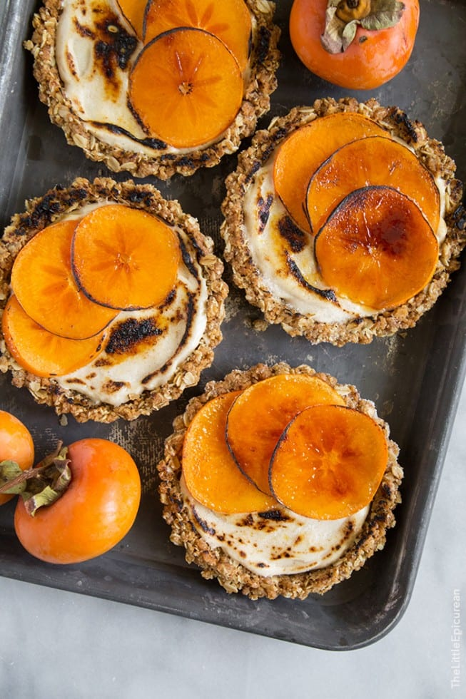 Bruleed persimmon Tarts | The Little Epicurian
