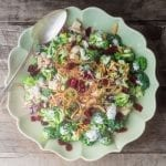 An absolutely irressitable American classic salad, made a little bit lighter and healthier.