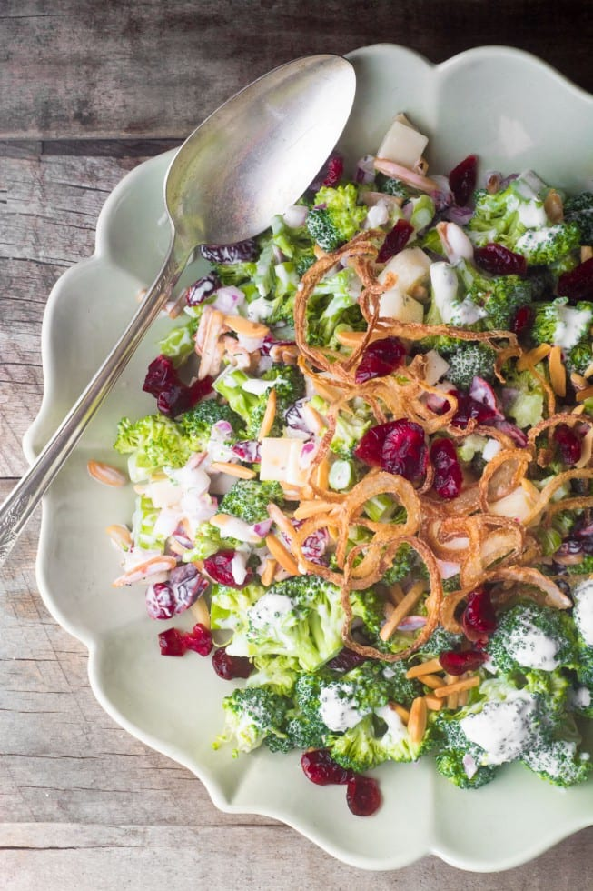 Skinny Broccoli Salad, an American classic made healthier!