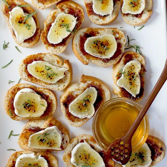 Brie Crème Brûlée Crostini | Foodness Gracious