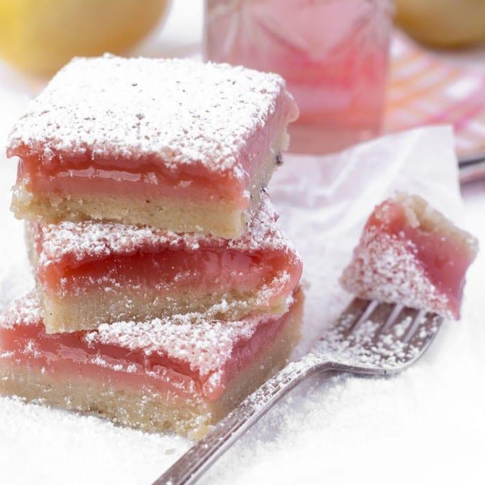 Hibiscus Lemon Bars --- a wonderful twist on everybody's favorite lemon dessert!