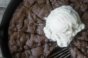 Double Chocolate Chip Skillet Cookie recipe | theviewfromgreatisland.com