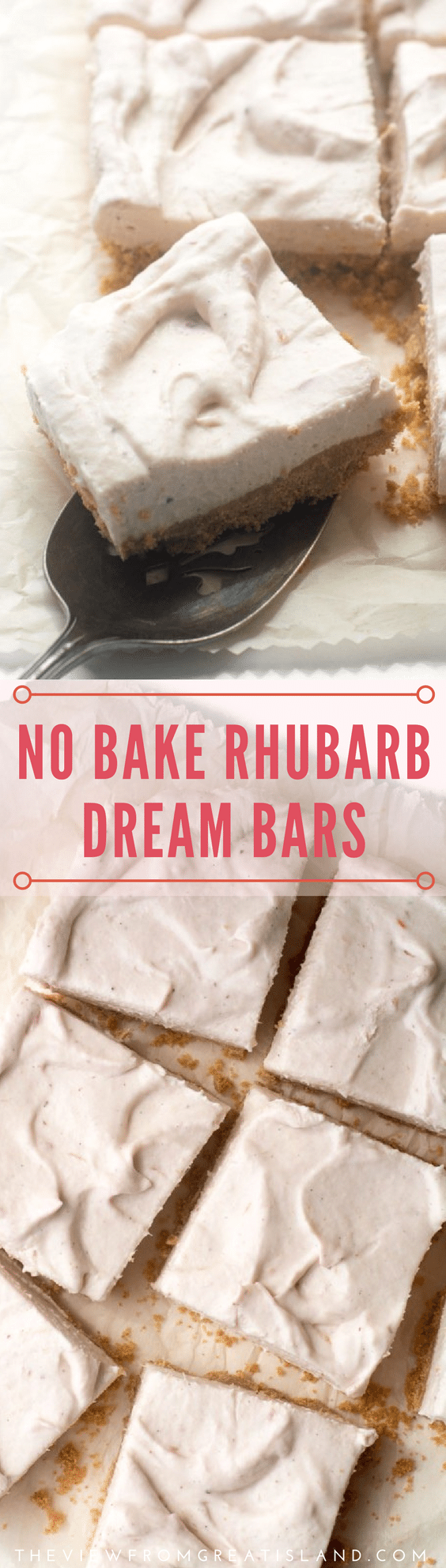 No Bake Rhubarb Dream Bars pin