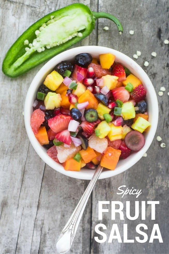 Spicy Fruit Salsa makes everything pop --- from grilled fish and chicken, to steak, tacos, and more! | theviewfromgreatisland.com