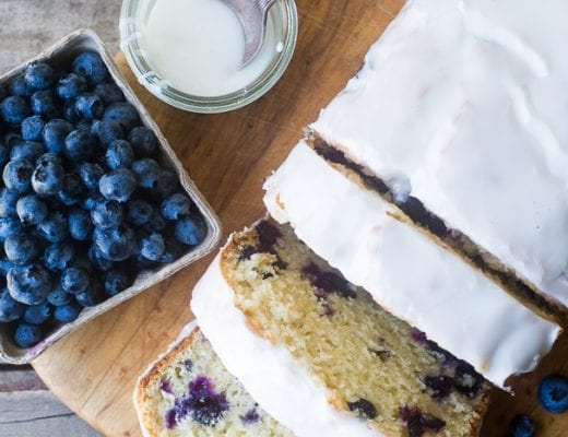 Blueberry Lemon Pound Cake recipe | theviewfromgreatisland.com