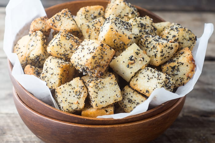 'Everythinng' Croutons are full of big flavor and crunch! | theviewfromgreatisland.com