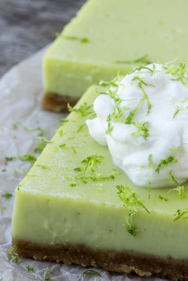 Tangy Lime Bars are a quick and easy dessert full of zesty citrus flavor! | theviewfromgreatisland.com