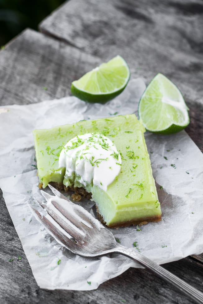 Tangy Lime Bars are easy to throw together, not too sweet, and full of citrusy flavor! | theviewfromgreatisland.com
