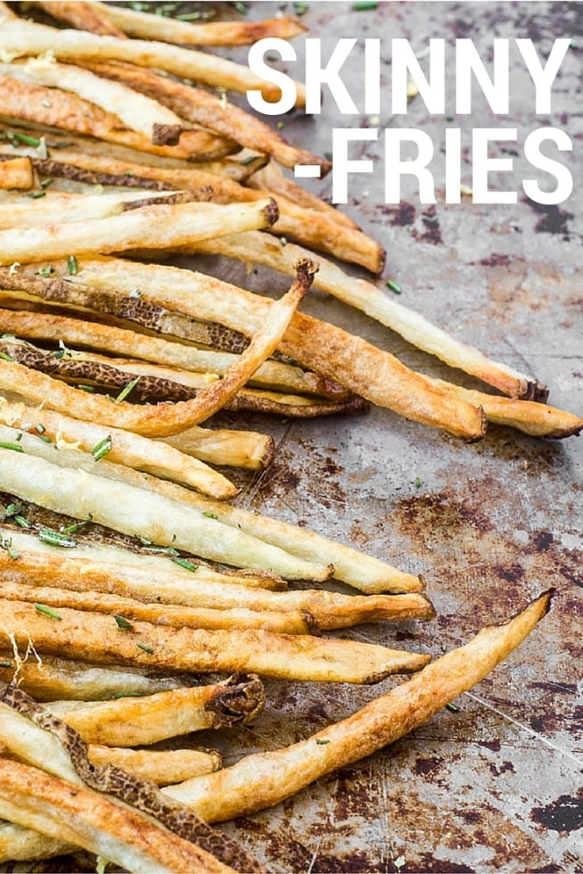 These Skinny Fries are skinny in every sense of the word — thin and crispy, baked in healthy olive oil with lots of flavor and no salt — there's no doubt about it, fries are back on the table! theviewfromgreatisland.com