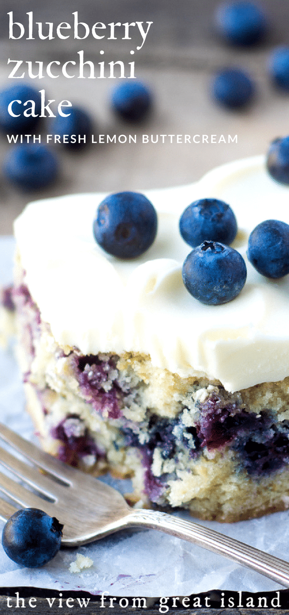 Blueberry Zucchini Snack Cake pin