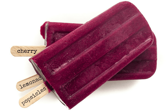 Cherry Lemonade Popsicles are fresh, healthy, and delicious! | theviewfromgreatisland.com