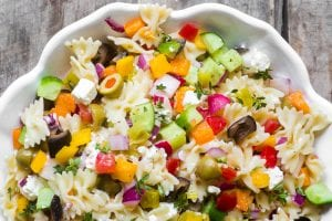 Israeli Pasta Salad | theviewfromgreatisland.com