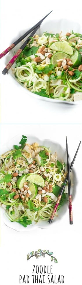 Spicy Zoodle Pad Thai Salad | theviewfromgreatisland.com