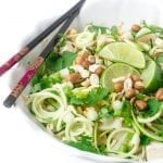Zoodle Pad Thai tastes exactly like my favorite pad Thai, except the noodles are made from zucchini! | theviewfromgreatisland.com