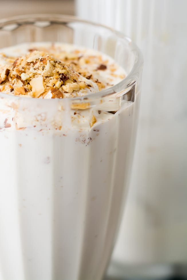 Toasted Almond Shake, for Dad | theviewfromgreatisland.com