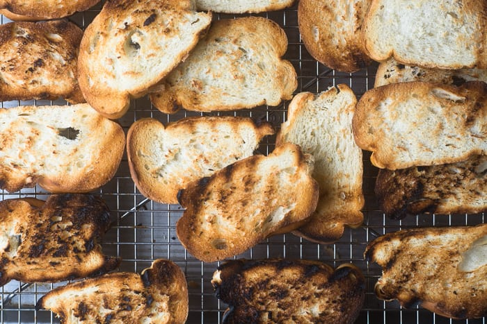 Grilled bread for summer crostini | theviewfromgreatisland.com