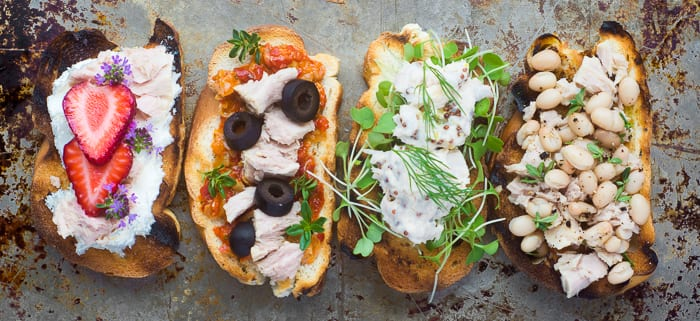 Fresh and colorful Wild Caught Tuna Crostini --- theviewfromgreatisland.com
