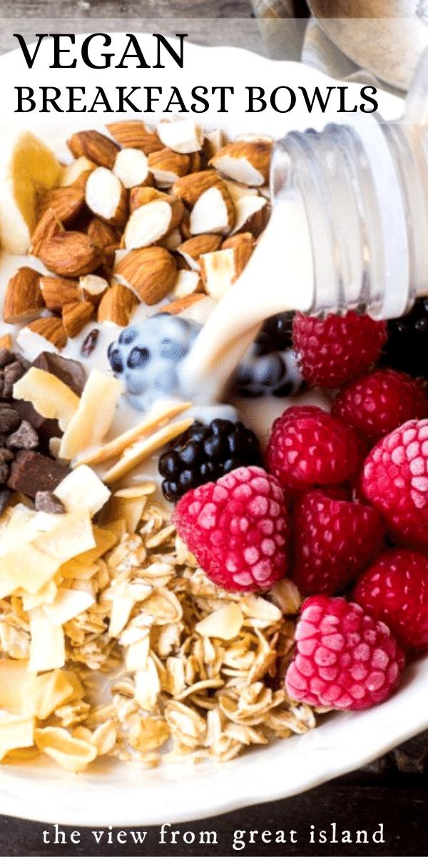vegan breakfast bowl pin