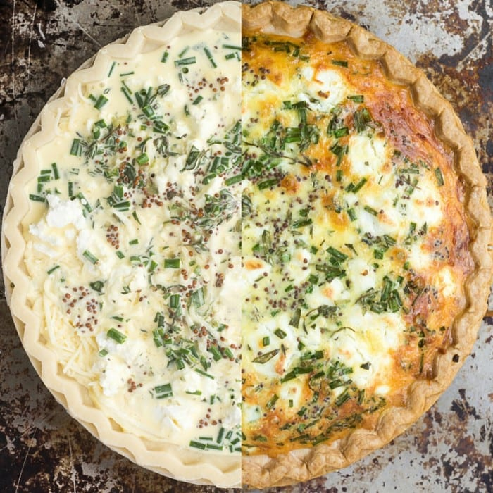 Sweet Onion and Herb Quiche is a quick and easy summer meal! theviewfromgreatisland.com