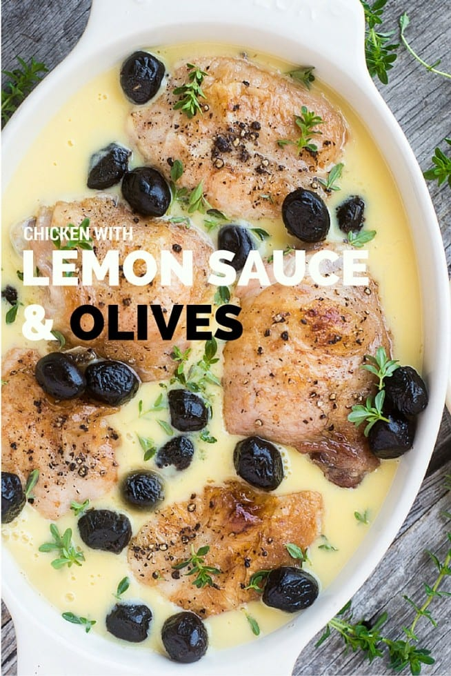 CHICKEN WITH LEMON SAUCE & OLIVES is a fabulous light meal that's quick to prepare and has tons of flavor! | theviewfromgreatisland.com