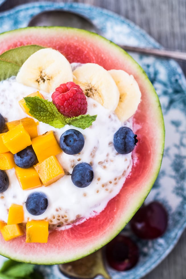 Nobody will skip breakfast with these fun Melon Breakfast Bowls around! | theviewfromgreatisland.com