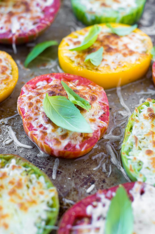 Minimal Monday: Heirloom Tomatoes Parmesan | theviewfromgreatisland.com