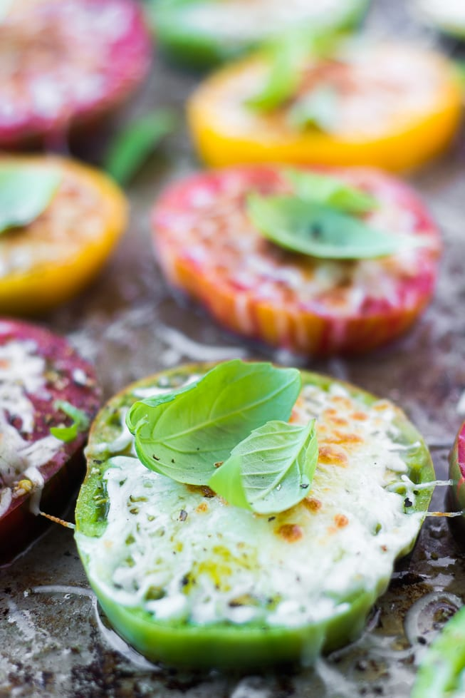 Best Heirloom Tomato Recipes ~ Heirloom Parmesan Tomatoes | theviewfromgreatisland.com